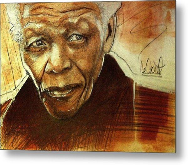 Older Nelson Mandela Metal Print