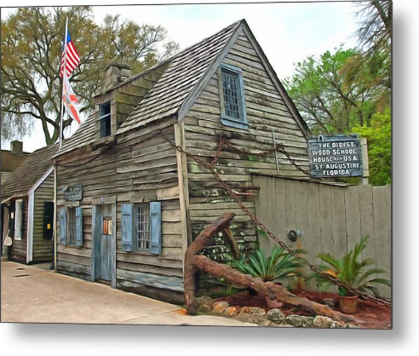 Oldest Wood School House In The Usa Metal Print