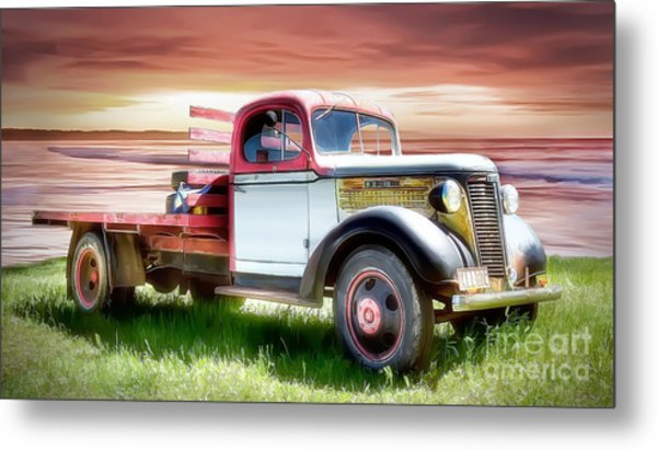 Oldsmobile Sunset Metal Print by Shannon Rogers