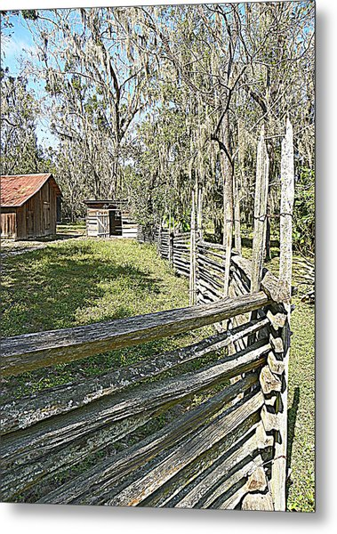 Ole Horse Barn Metal Print