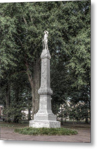 Ole Miss Confederate Statue Metal Print