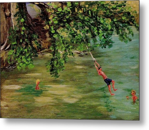 Ole' Swimming Hole Metal Print