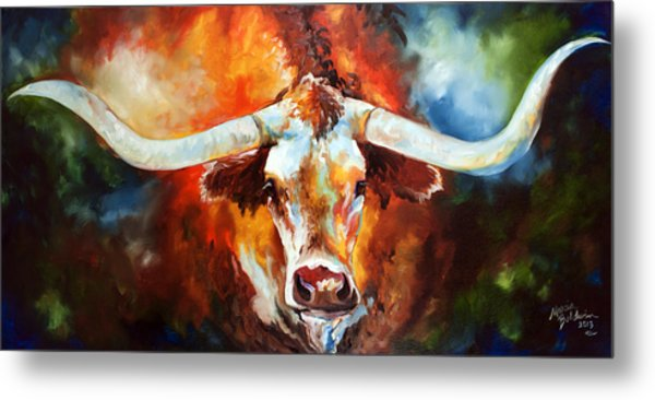 Ole Tex Longhorn Metal Print