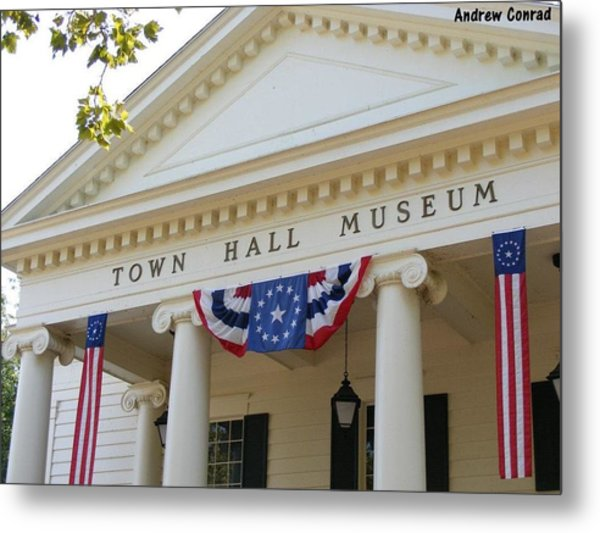 Ole Town Hall Metal Print by Andrew Conrad