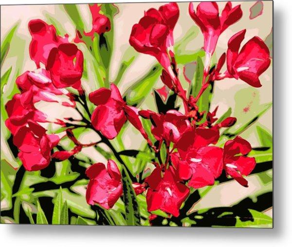Oleander Red Metal Print by Sheri McLeroy