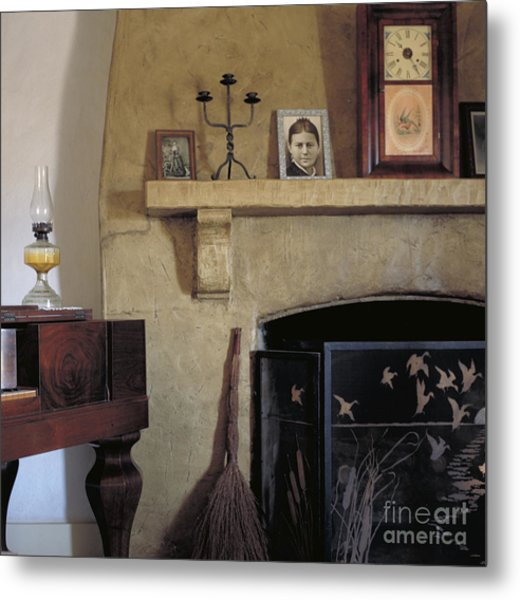 Olivas Adobe Hearth Metal Print