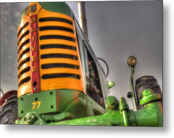 Oliver Tractor Metal Print