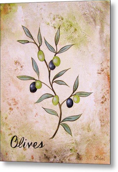 Olives Painting Metal Print
