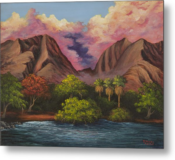 Olowalu Valley Metal Print