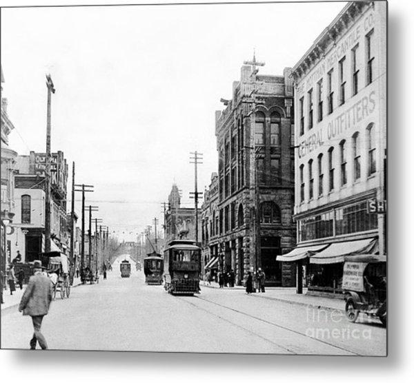 Olympia Main Street 1917 Metal Print