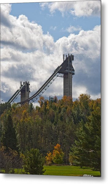 Olympic Ski Jumps Lake Placid Metal Print