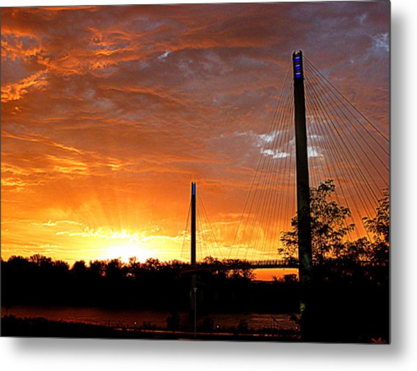 Metal Print featuring the photograph Omaha Sunrise by Jeff Lowe