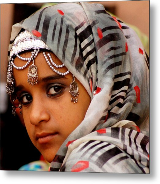 Omani Girl Metal Print