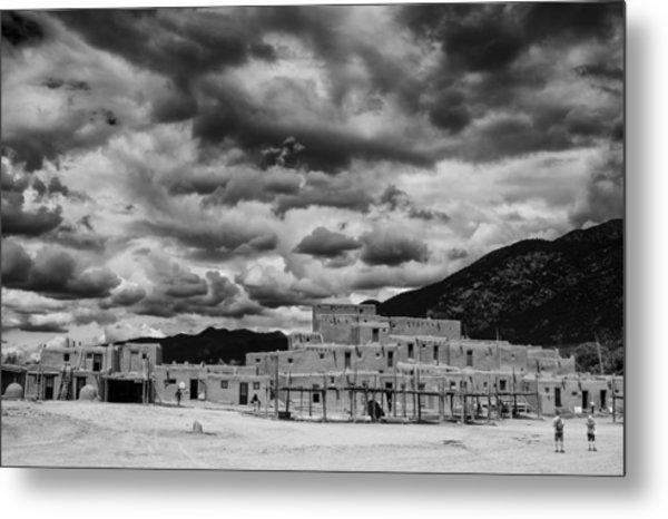 Ominous Clouds Over Taos Pueblo Metal Print