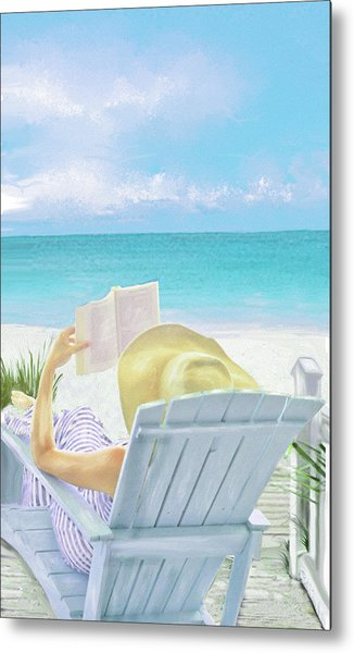 On Beach Time Metal Print