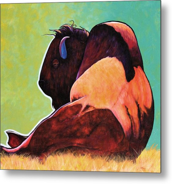 On Empty Bison Metal Print by Joe  Triano