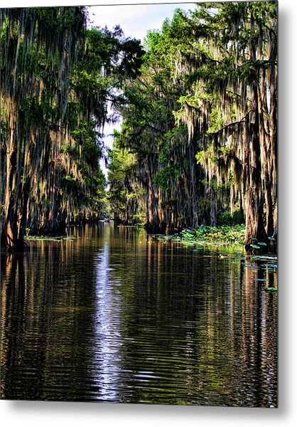 On Golden Canal Metal Print