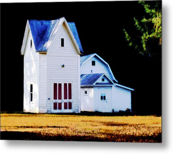 On Hwy B In Ogdensburg Wisconsin Metal Print