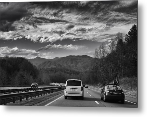 On Interstate 40 West Metal Print