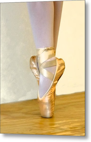 Ballet Toes On Point Metal Print