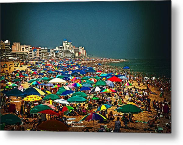 On The Beach In August Metal Print