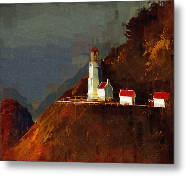 On The Bluff Metal Print