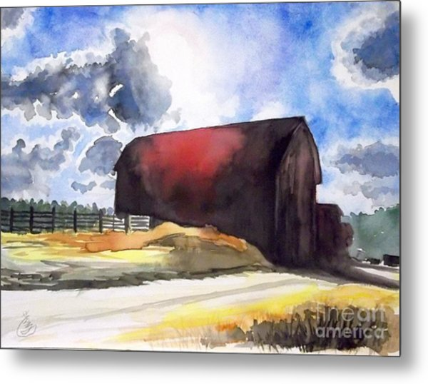 On The Macon Road. - Saline Michigan Metal Print