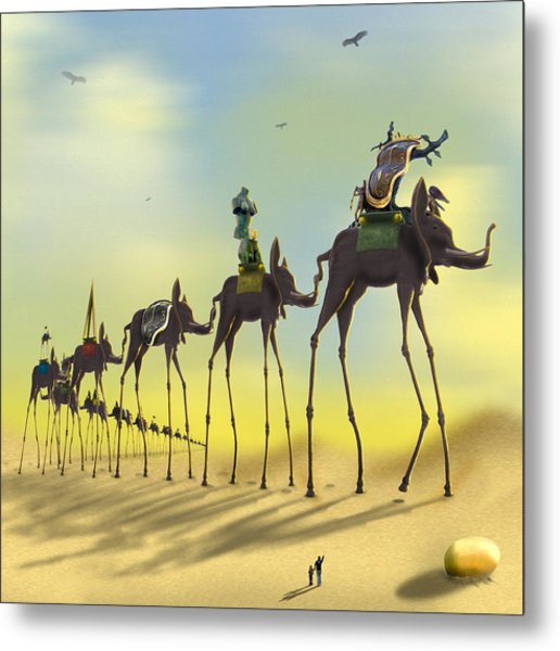 On The Move 2 Without Moon Metal Print