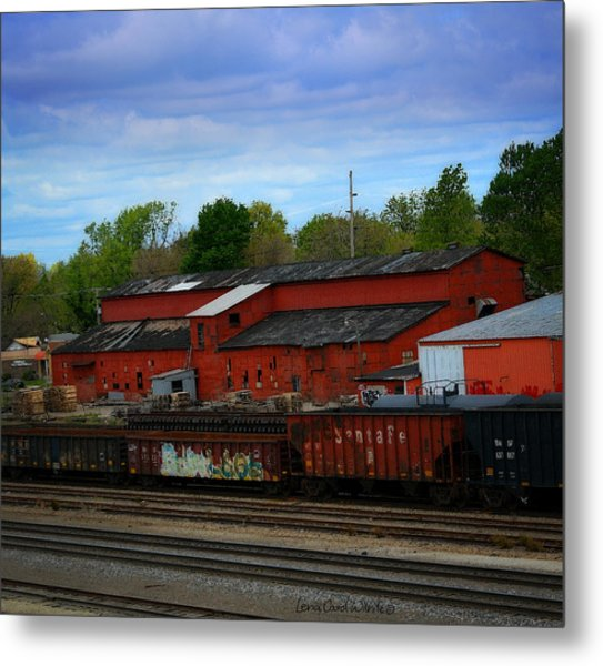 On The Other Side Of The Tracks Metal Print