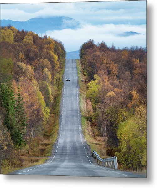 On The Road Again Metal Print by Christian Lindsten