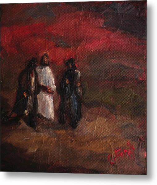 On The Road To Emmaus Metal Print