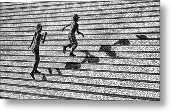 On The Stairs . Metal Print by Juan Luis Duran