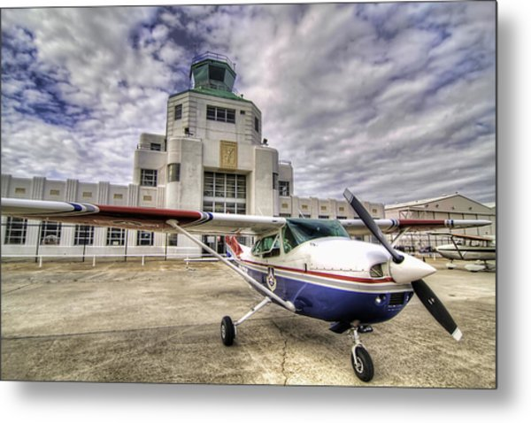 On The Tarmac Metal Print