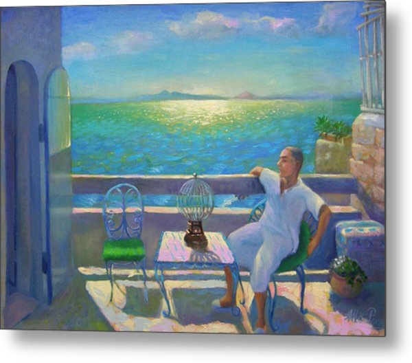 On The Terrace Metal Print