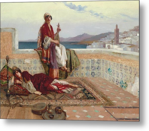 On The Terrace Tangiers Metal Print
