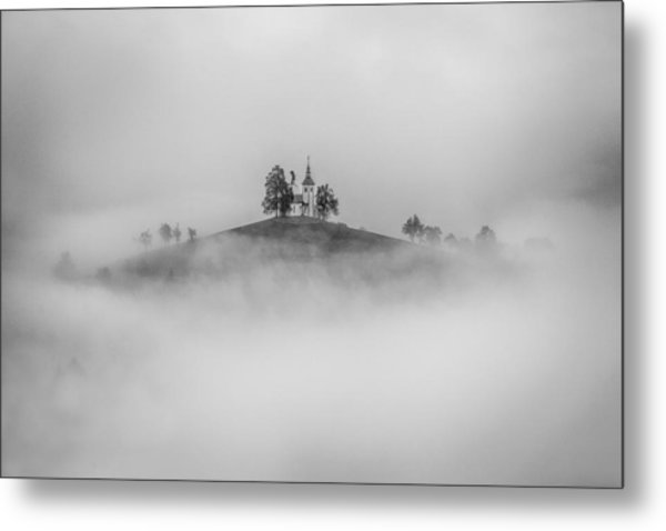 On The Top Of The Hill Metal Print