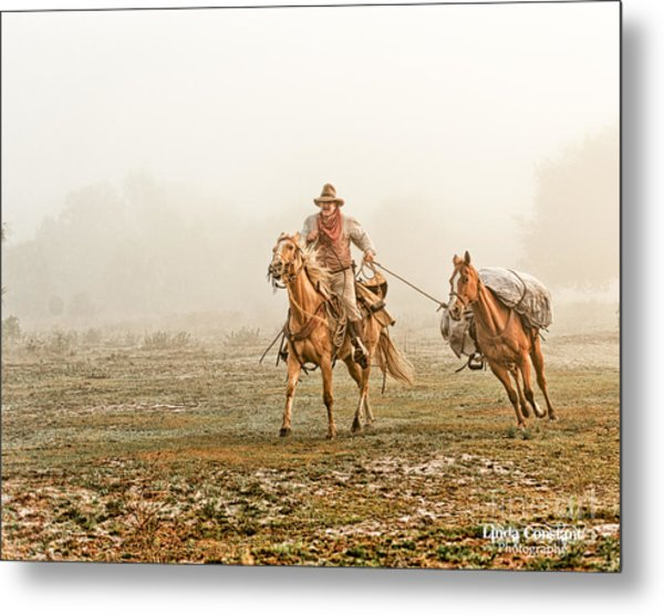 Metal Print featuring the photograph On The Trail by Linda Constant