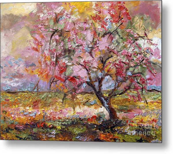 On The Way To Grandma There Is A Tree I Love Spring Metal Print