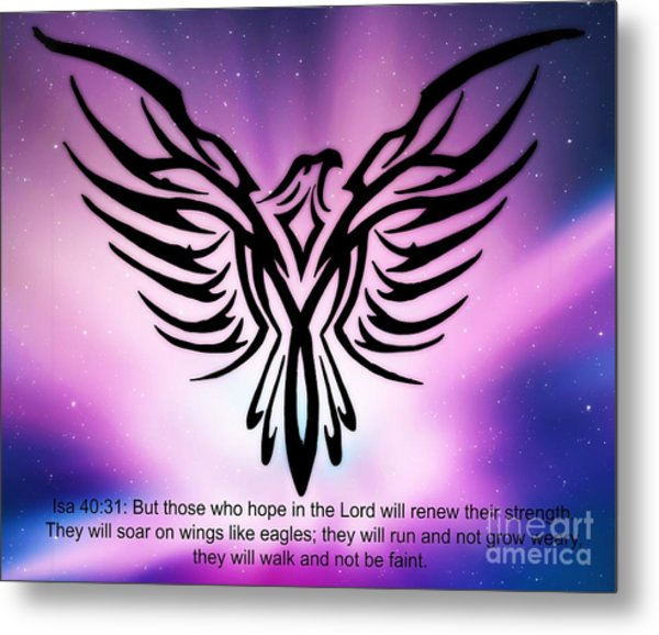 On The Wings Of Eagles Metal Print