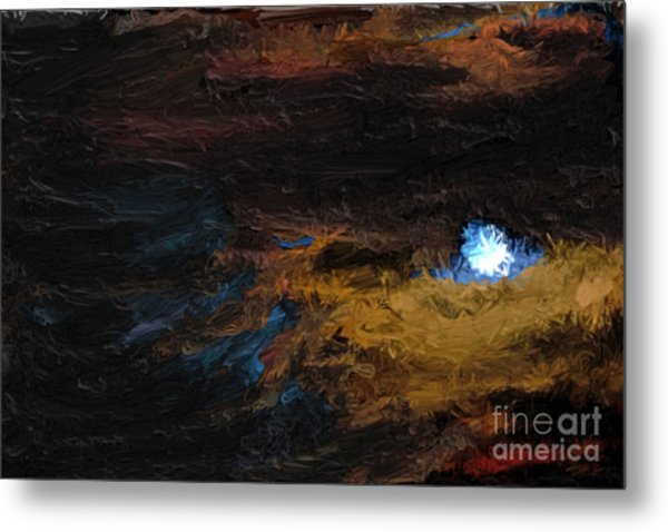 Once In A Blue Moon Metal Print by Nancy TeWinkel Lauren
