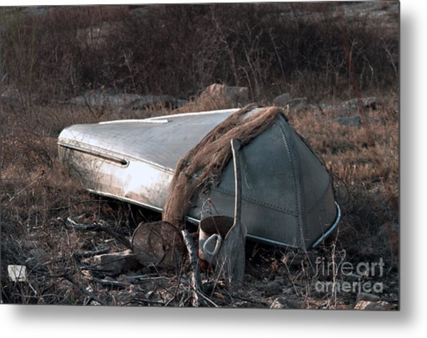 Once There Was A Fisherman Metal Print