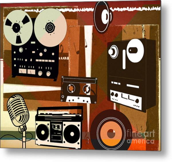 Once Upon Audio Metal Print by Peter Awax
