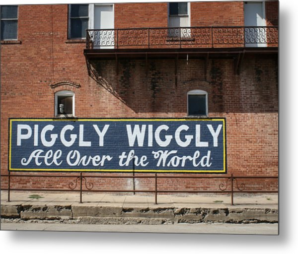 One Famous Pig Metal Print