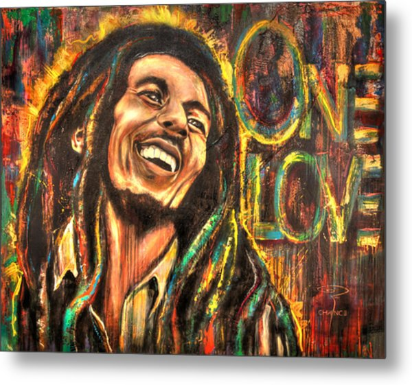 Bob Marley - One Love Metal Print