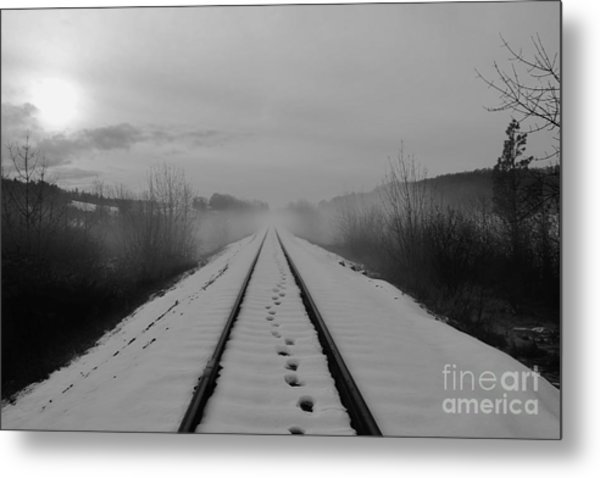 One Man's Journey Metal Print