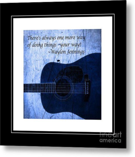 One More Way - Waylon Jennings Metal Print
