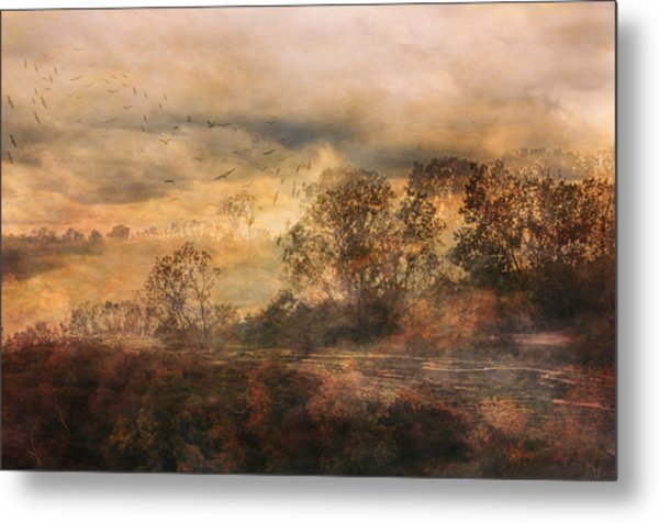 One October Day Metal Print