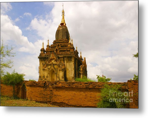 One Of The Countless Buddhist Pagodas In Bagan Burma Metal Print by PIXELS  XPOSED Ralph A Ledergerber Photography