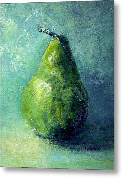 One Pear Metal Print by Bob Pennycook