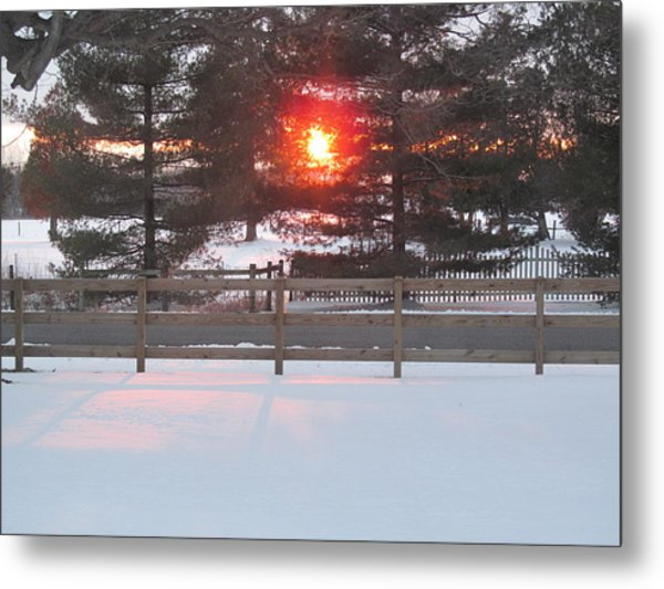 One Rare Winter Sunset Metal Print